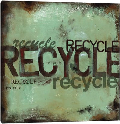 Recycle Canvas Art Print