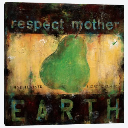 Respect Mother Earth Canvas Print #WAN49} by Wani Pasion Canvas Wall Art