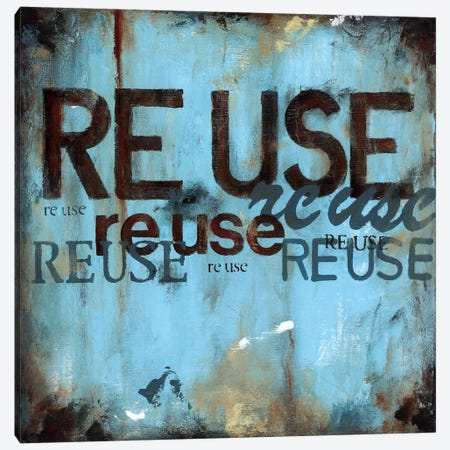 Reuse Canvas Print #WAN50} by Wani Pasion Art Print
