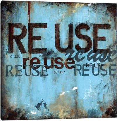 Reuse Canvas Art Print