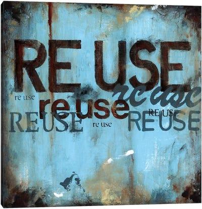 Reuse Canvas Art Print
