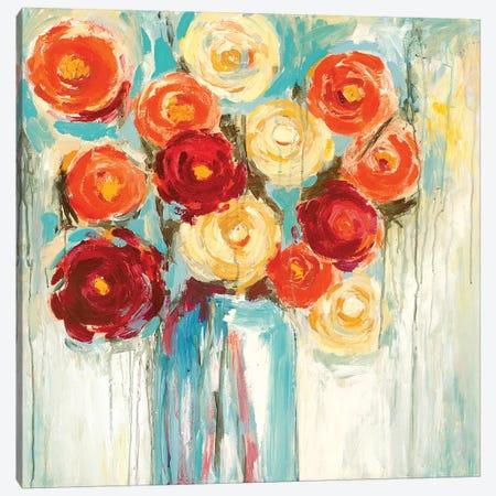Sunlit Blooms Canvas Print #WAN55} by Wani Pasion Canvas Wall Art