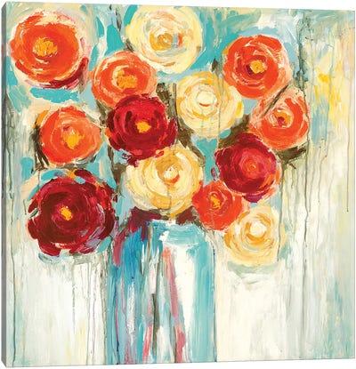 Sunlit Blooms Canvas Art Print