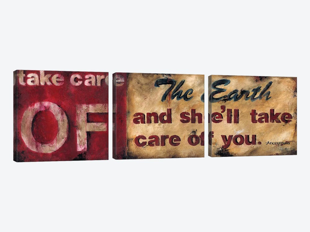 Take Care Of The Earth by Wani Pasion 3-piece Canvas Art
