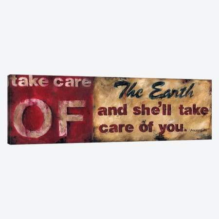 Take Care Of The Earth Canvas Print #WAN56} by Wani Pasion Canvas Art
