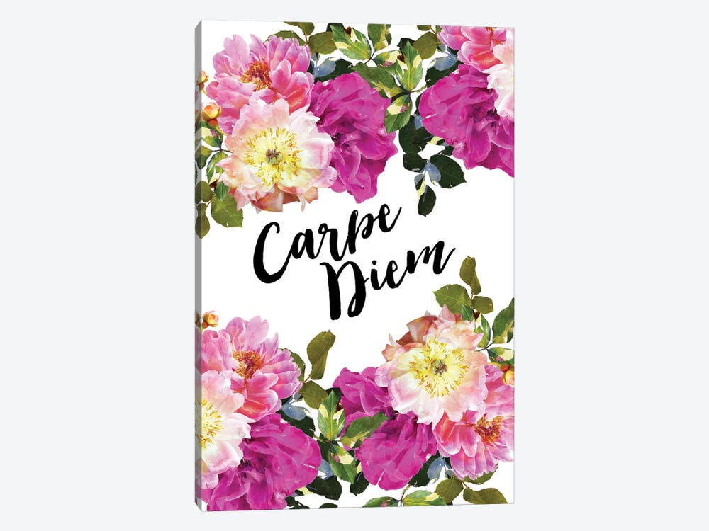 Carpe Diem Floral 1-piece Art Print