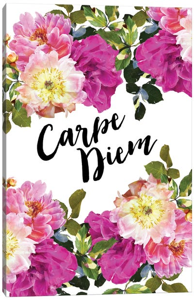 Carpe Diem Floral Canvas Art Print