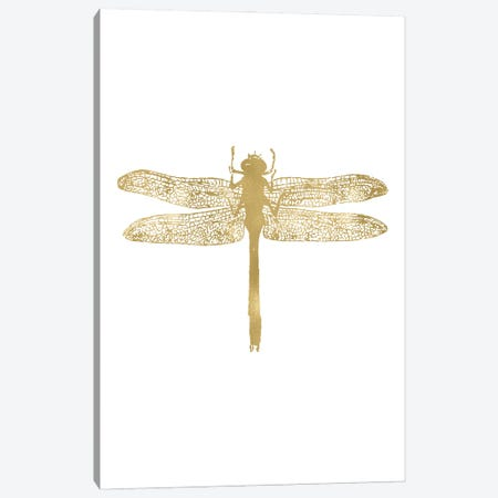 Dragonfly Gold Canvas Print #WAO114} by Willow & Olive Canvas Art Print