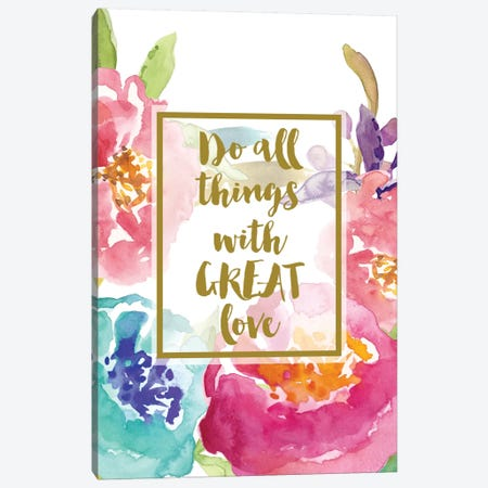 Do All Things With Great Love Canvas Print #WAO12} by Willow & Olive Canvas Wall Art