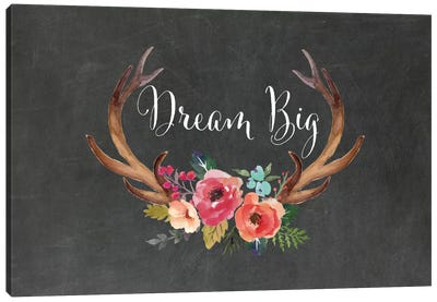 Dream Big Antlers Canvas Art Print