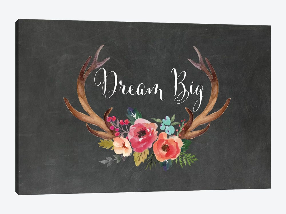 Dream Big Antlers by Willow & Olive by Amy Brinkman 1-piece Canvas Art