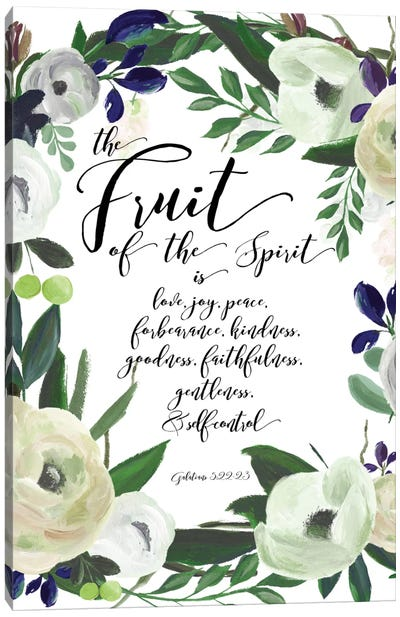 Fruit Of The Spirit - Galatians 5:22-23 Canvas Art Print