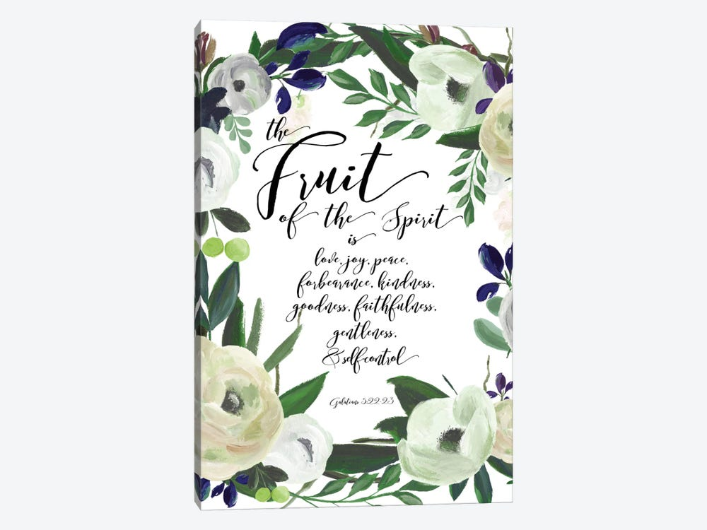 Fruit Of The Spirit - Galatians 5:22-23 by Willow & Olive by Amy Brinkman 1-piece Canvas Artwork
