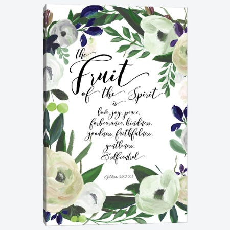 Fruit Of The Spirit - Galatians 5:22-23 Canvas Print #WAO17} by Willow & Olive Canvas Print