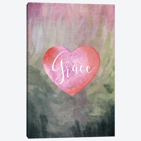 Grace Heart Canvas Print #WAO19} by Willow & Olive Canvas Wall Art