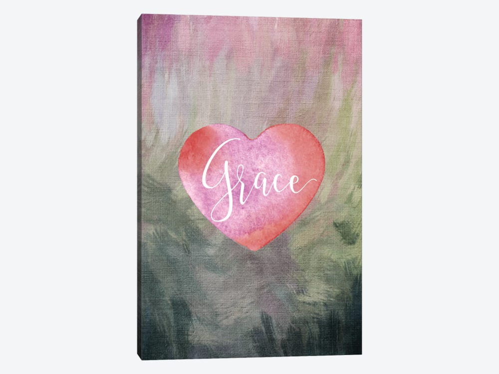 Grace Heart by Willow & Olive by Amy Brinkman 1-piece Canvas Artwork