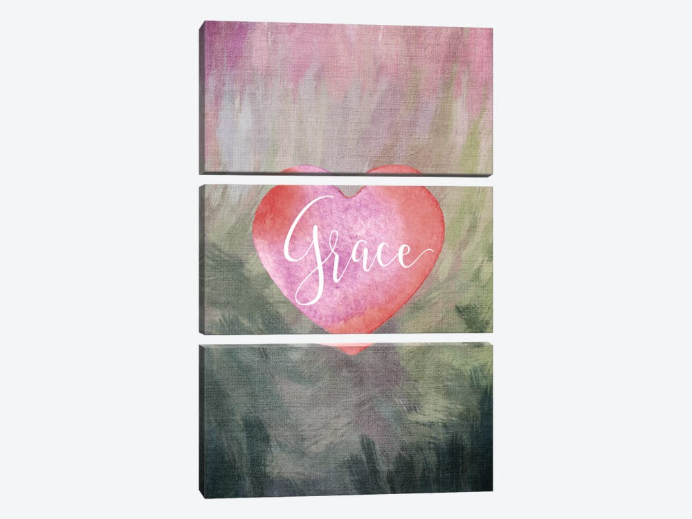 Grace Heart by Willow & Olive by Amy Brinkman 3-piece Canvas Artwork
