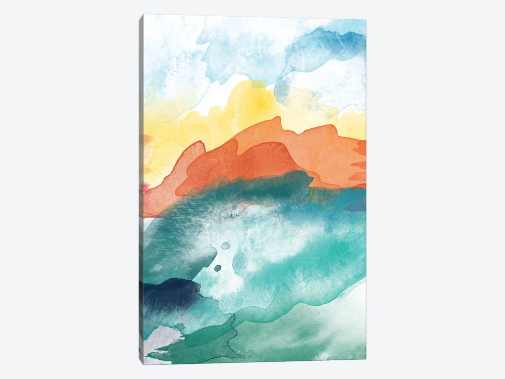 High Tide Abstract III by Willow & Olive 1-piece Canvas Art Print