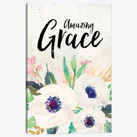 Amazing Grace Canvas Print #WAO2} by Willow & Olive by Amy Brinkman Canvas Print