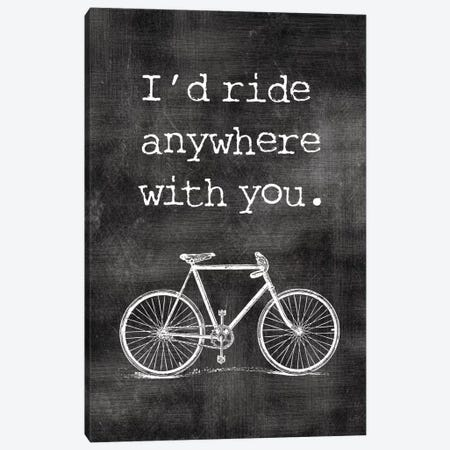 I'd Ride Anywhere With You Canvas Print #WAO32} by Willow & Olive Canvas Wall Art
