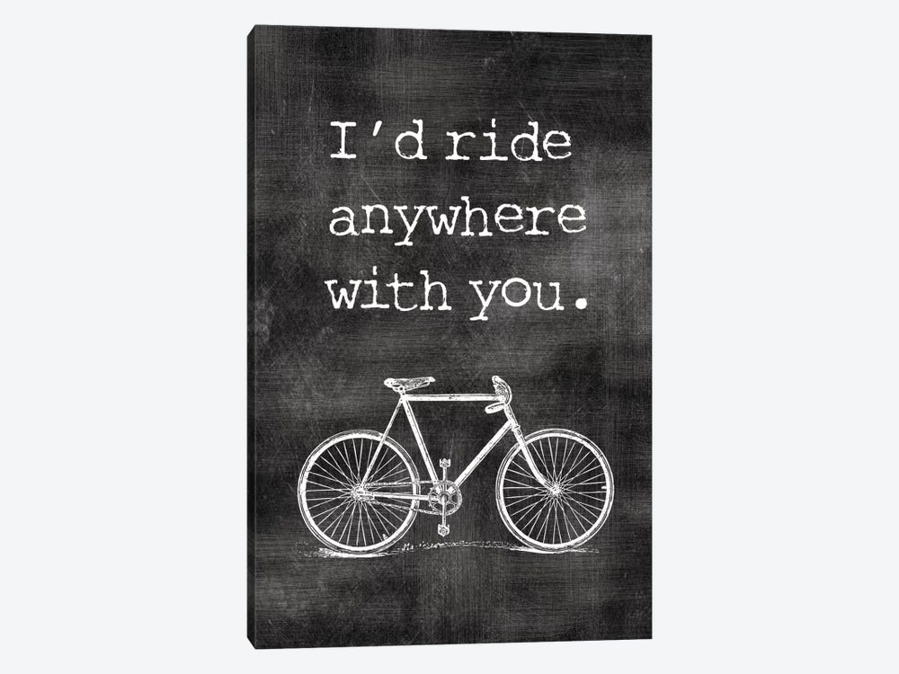 I'd Ride Anywhere With You by Willow & Olive by Amy Brinkman 1-piece Canvas Art Print