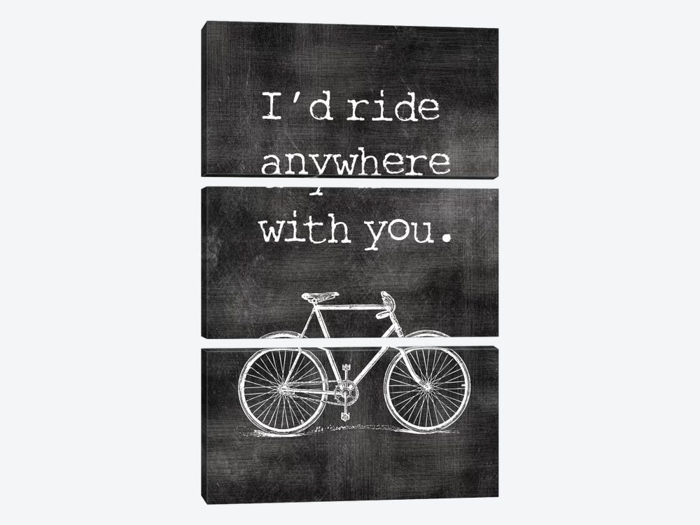 I'd Ride Anywhere With You by Willow & Olive by Amy Brinkman 3-piece Canvas Art Print