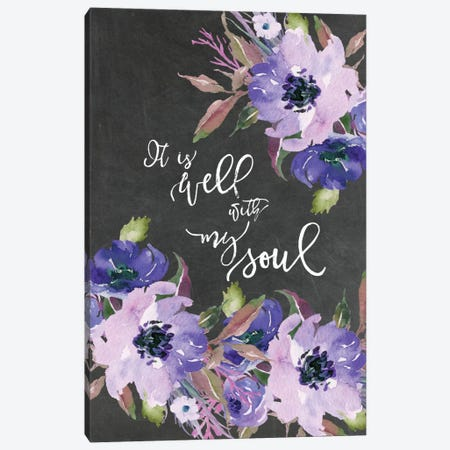 It Is Well With My Soul Canvas Print #WAO33} by Willow & Olive Canvas Wall Art