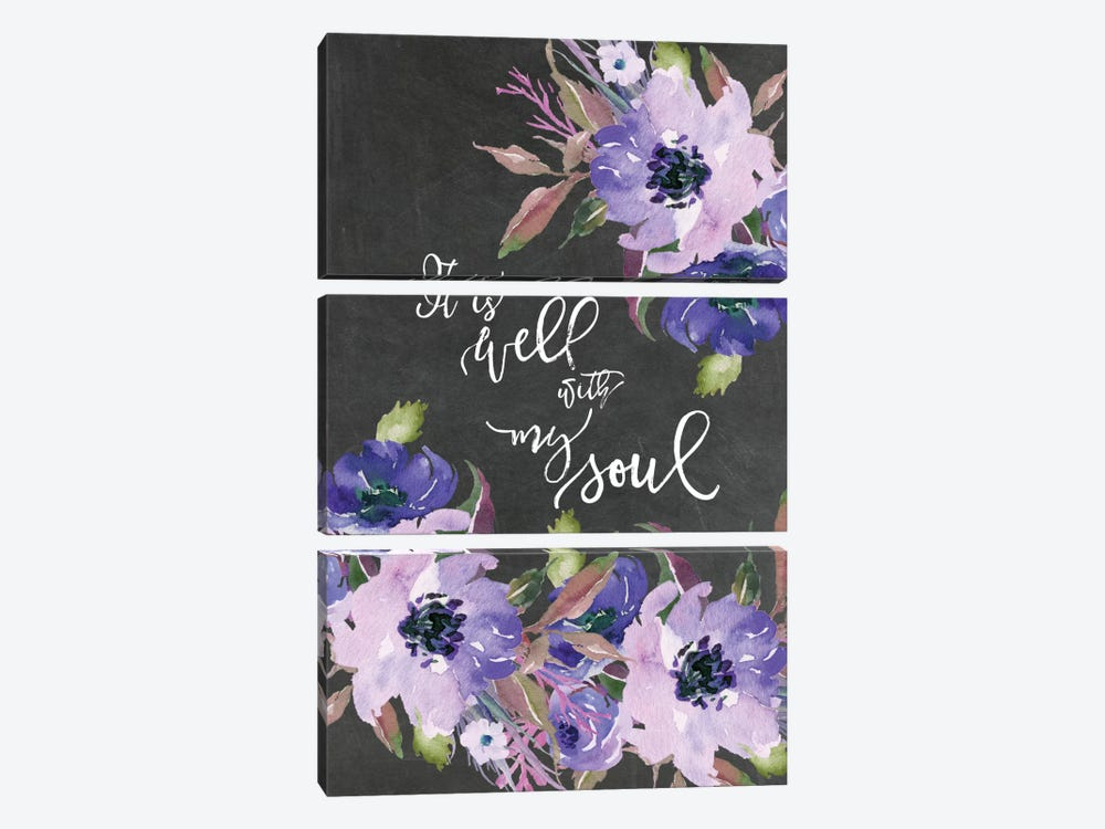 It Is Well With My Soul by Willow & Olive by Amy Brinkman 3-piece Canvas Art