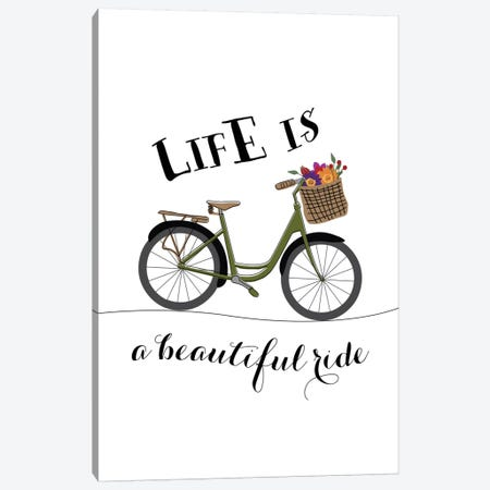 Life Is A Beautiful Ride Canvas Print #WAO36} by Willow & Olive Canvas Print