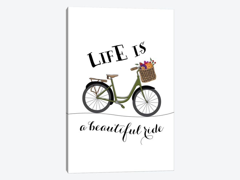 Life Is A Beautiful Ride by Willow & Olive by Amy Brinkman 1-piece Canvas Art Print