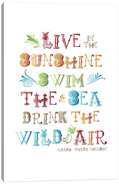 Live In The Sunshine Multi-color - Emerson Canvas Art Print