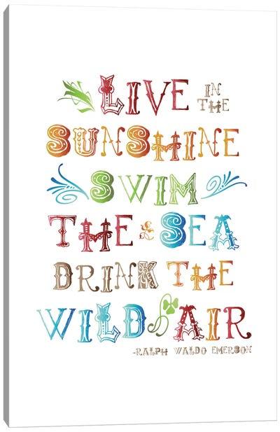 Live In The Sunshine Multi-color - Emerson Canvas Art Print