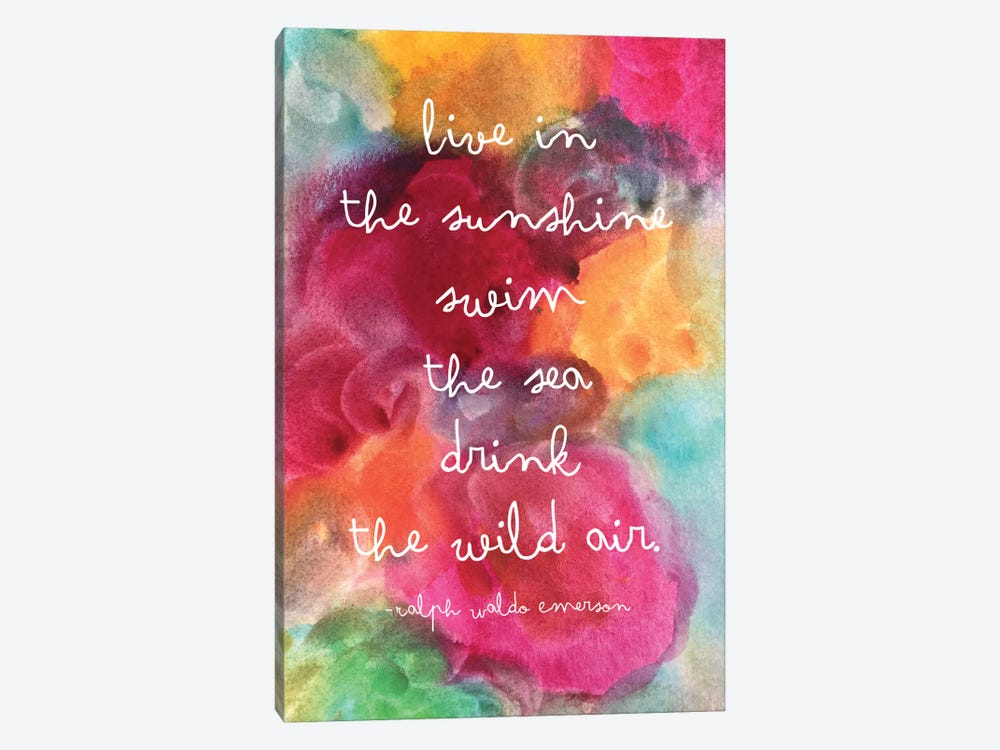 Live In The Sunshine Watercolor - Emerson by Willow & Olive by Amy Brinkman 1-piece Canvas Art