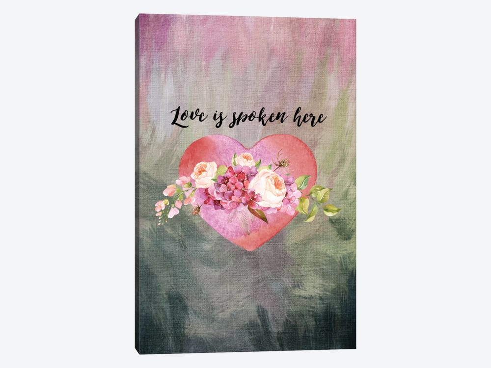 Love Spoken Here by Willow & Olive by Amy Brinkman 1-piece Canvas Art Print