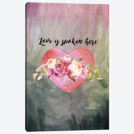 Love Spoken Here Canvas Print #WAO41} by Willow & Olive Art Print