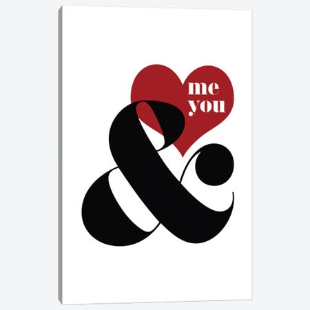 Me & You Canvas Print #WAO42} by Willow & Olive Canvas Print