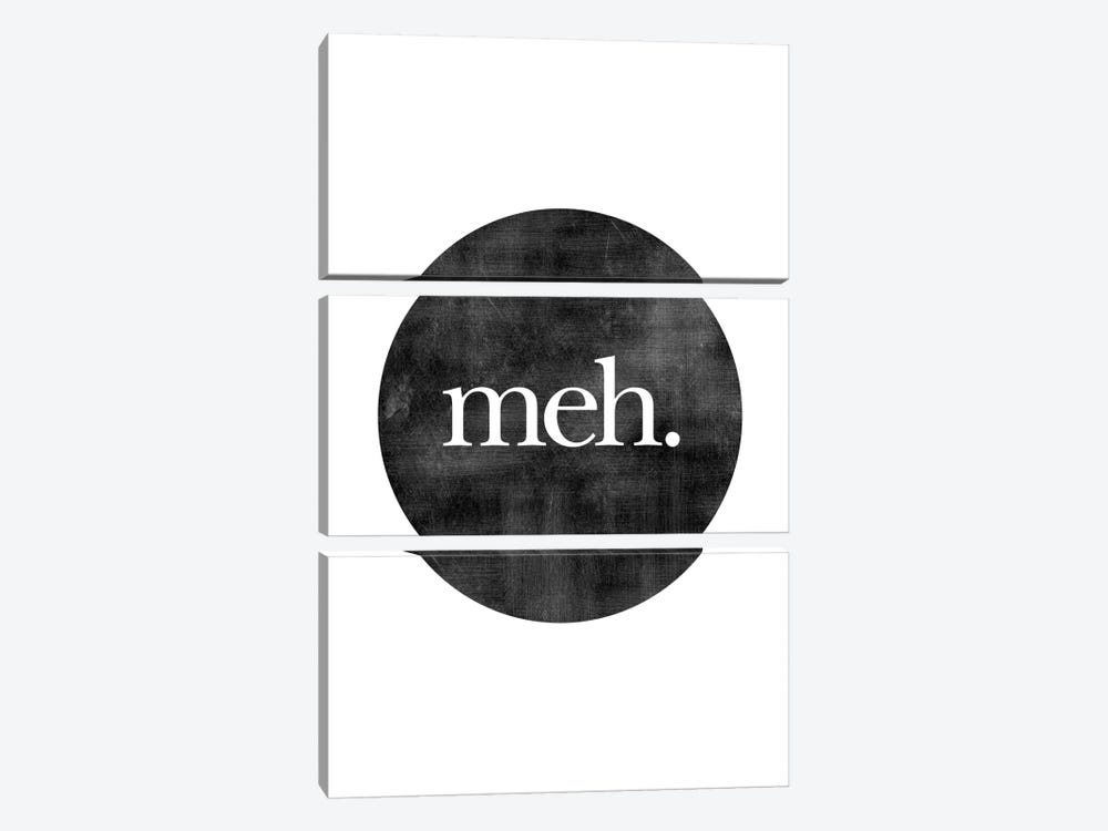 Meh. by Willow & Olive by Amy Brinkman 3-piece Canvas Artwork