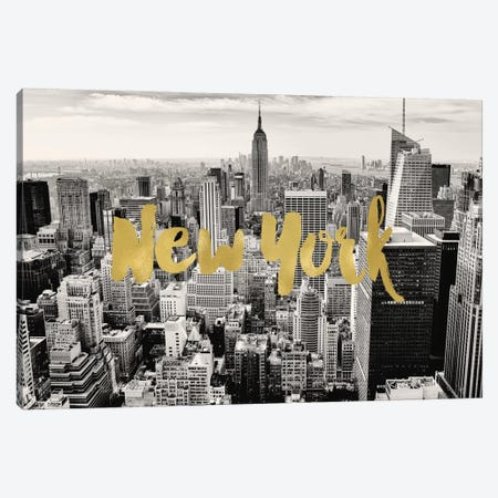 New York Skyline Canvas Print #WAO47} by Willow & Olive Canvas Artwork
