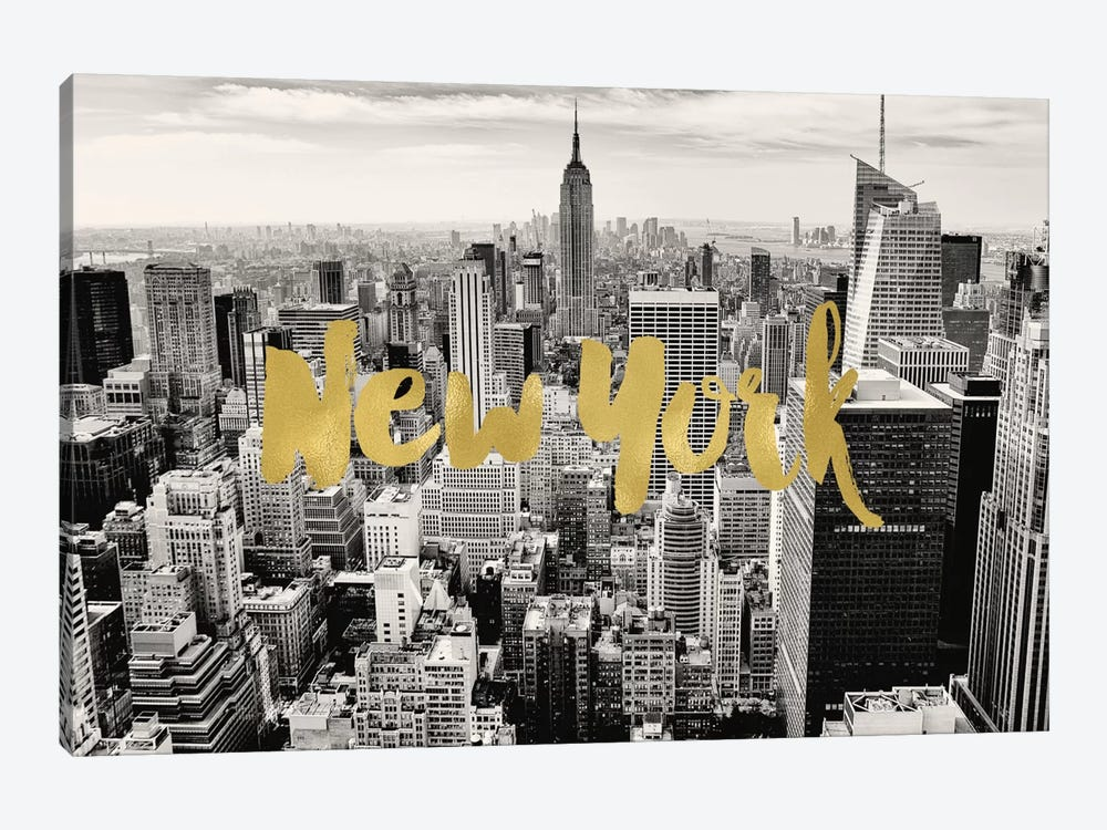 New York Skyline by Willow & Olive by Amy Brinkman 1-piece Canvas Print