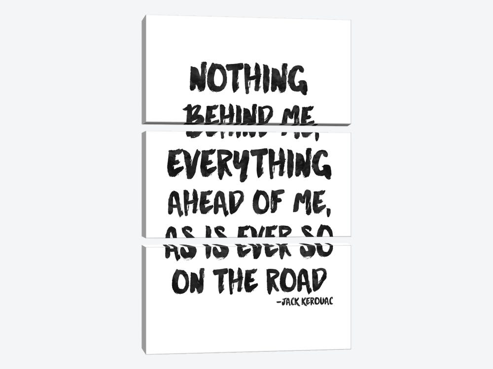 Nothing Behind Me - Kerouac by Willow & Olive 3-piece Canvas Wall Art