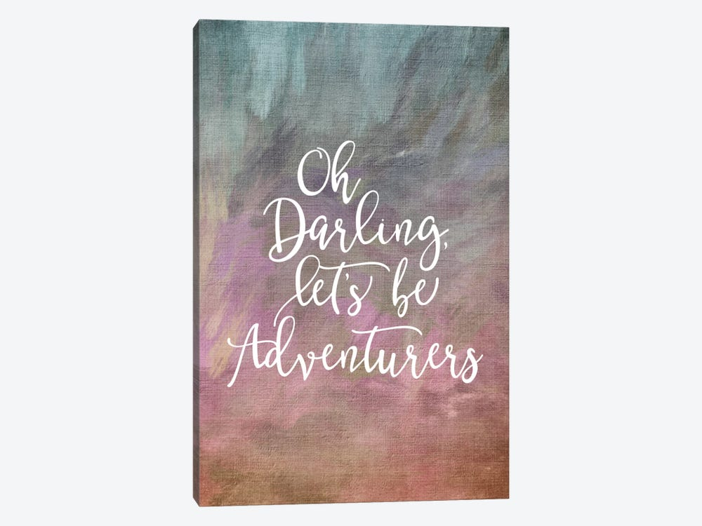 Oh Darling, Let's Be Adventurers by Willow & Olive 1-piece Canvas Art Print