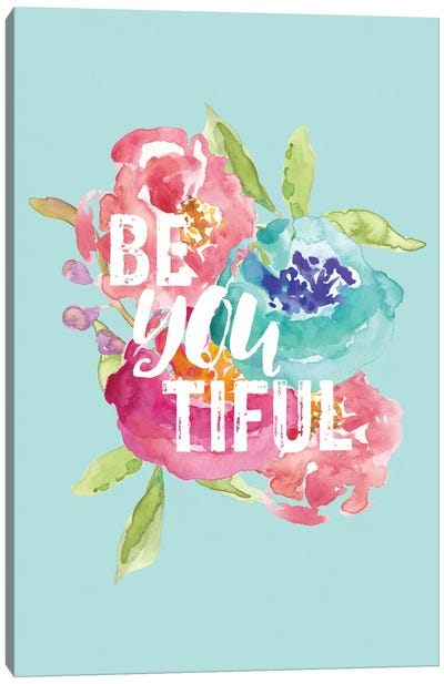 BeYOUtiful Floral Canvas Art Print