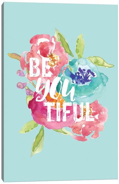 BeYOUtiful Floral Canvas Art Print
