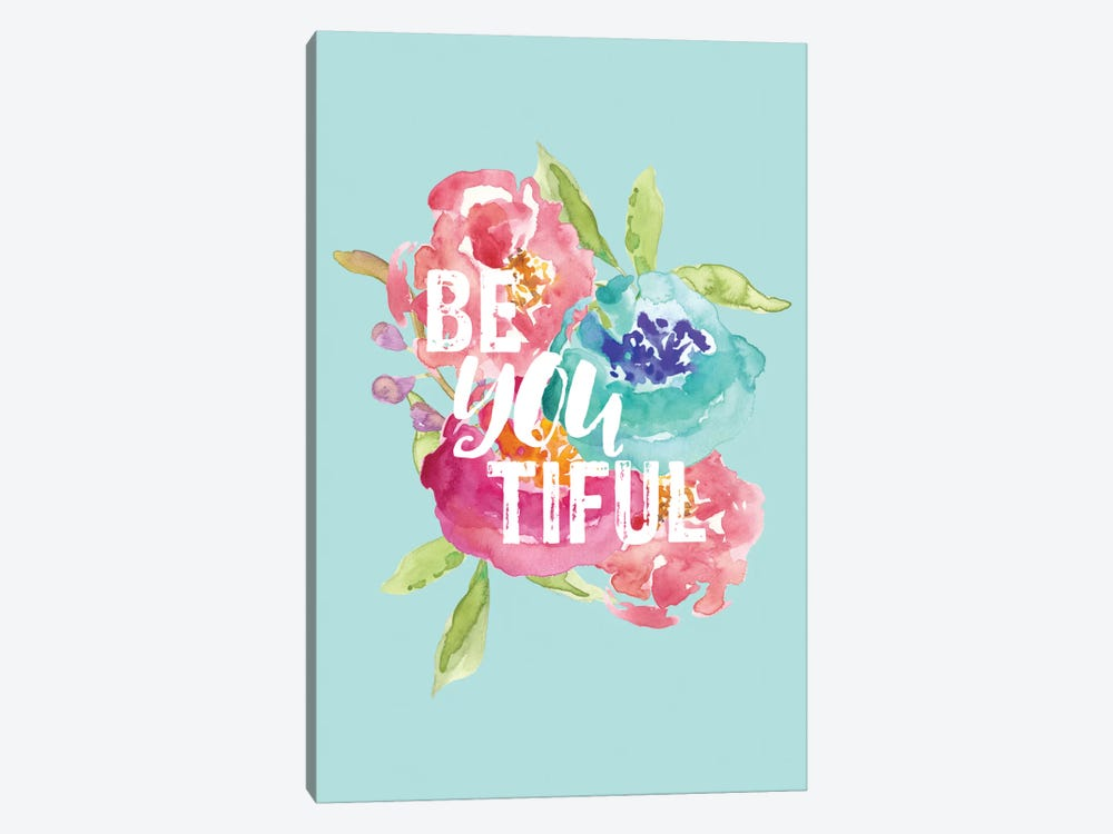 BeYOUtiful Floral by Willow & Olive 1-piece Art Print