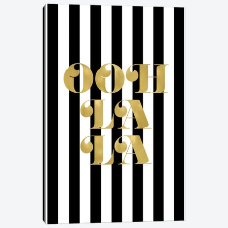 Ooh La La Gold Canvas Print #WAO50} by Willow & Olive Canvas Artwork