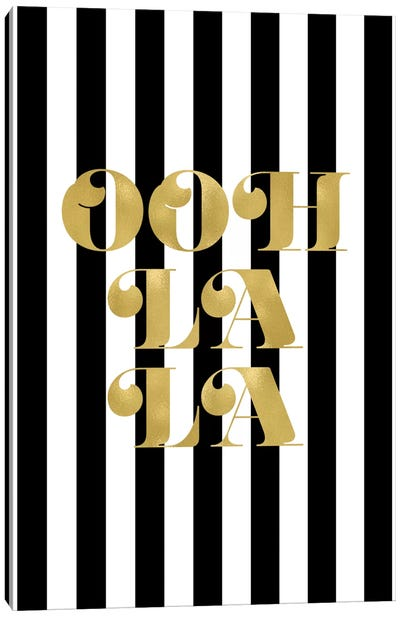 Ooh La La Gold Canvas Art Print