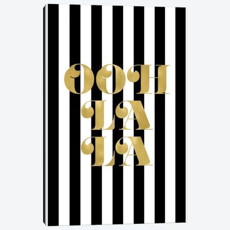 Ooh La La Gold Canvas Print #WAO50} by Willow & Olive Canvas Artwork