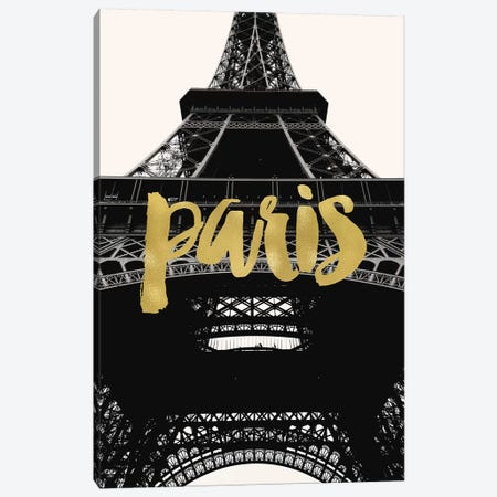 Paris Eiffel Tower Gold Canvas Print #WAO51} by Willow & Olive by Amy Brinkman Canvas Wall Art