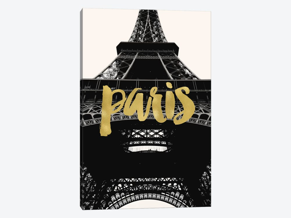 Paris Eiffel Tower Gold by Willow & Olive 1-piece Canvas Art