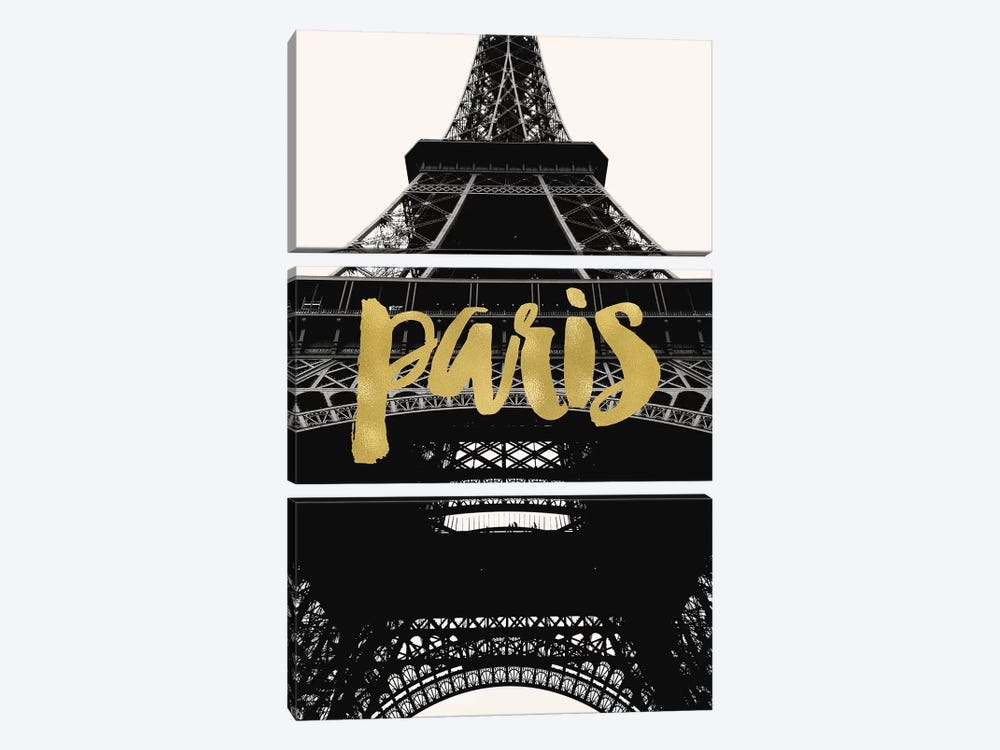 Paris Eiffel Tower Gold by Willow & Olive 3-piece Canvas Artwork